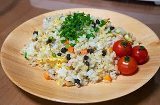 黒千石入りチャーハン:MIHO's 黒千石 Cooking