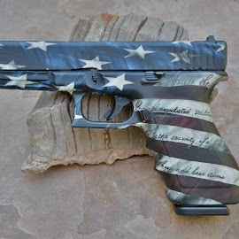 2A by Christopher Mattingly - Artistic Objects Technology Objects ( handgun, america, 2a, glock, bill of rights, constitution )