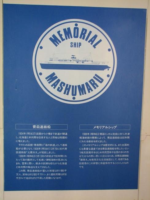 青函連絡船の記念館にて