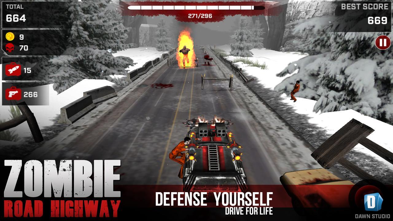 Zombie road highway screenshot