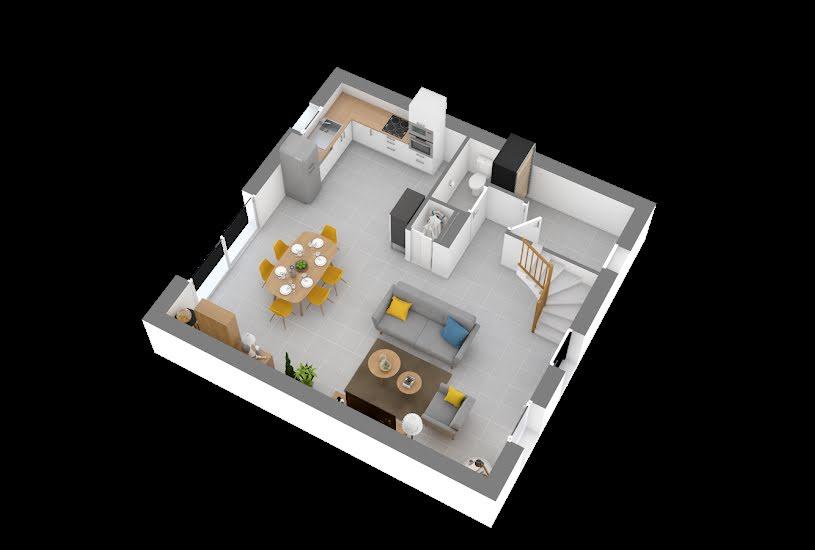 Vente Terrain + Maison - Terrain : 445m² - Maison : 90m² à Nozay (44170)