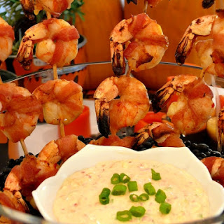Devils on Horseback or Bacon-Wrapped Shrimp with a Chili-Garlic Remoulade