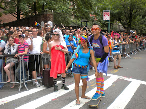 Photo: The Heritage of Pride gay pride march, Christopher and Hudson streets, Greenwich Village, 26 June 2011. (Photograph by Elyaqim Mosheh Adam.)