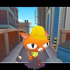 Tomcat. Pets street runner. Peak games. icon