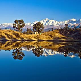 Reflections by Soumen  Basu Mallick - Landscapes Mountains & Hills