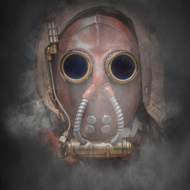 by Stephen  Barker - Digital Art People ( fantasy, steampunk, science fiction, costume, mask )