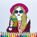 ColorPics: Beautiful Girl Coloring Game - FREE icon