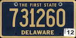 Image of the Delaware state license.