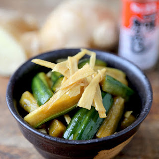 Cucumber and Ginger pickles (Japanese Style)