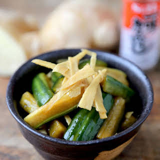 Cucumber and Ginger pickles (Japanese Style).