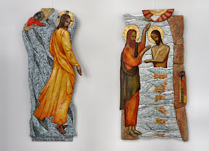 Photo: Christus loopt over het water - Doop van Christus