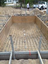 Photo: November 14, 2012 Formed and almost ready for concrete. Photo by Fiesta Pools
