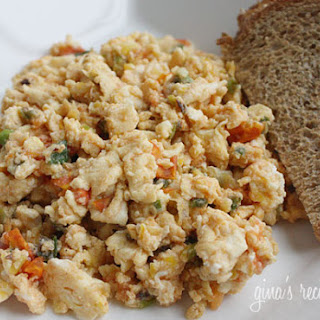 Eggs with Scallions and Tomatoes.