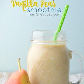 Vanilla Pear Smoothie.