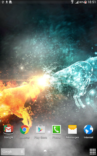 Fire & Ice Live Wallpaper Screenshot