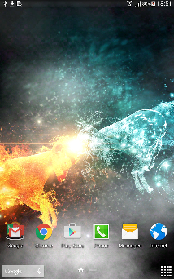 Fire & Ice Live Wallpaper- screenshot