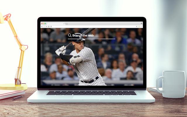 Aaron Judge New Tab MLB Theme