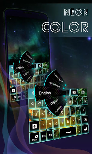Neon Color Keyboard