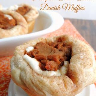 Pumpkin Cream Cheese Danish Muffins