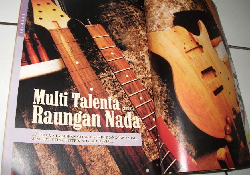 Artikel Multi Talenta demi Raungan Nada, Majalah Mossaik edisi 38 (Januari 2006), Rubrik Selaras, halaman 112-117