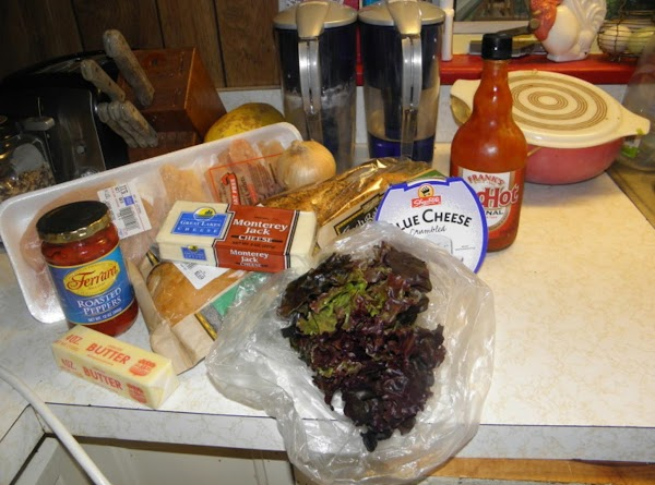 Gather together all the ingredients.I gave no measurements because how much depends on how...