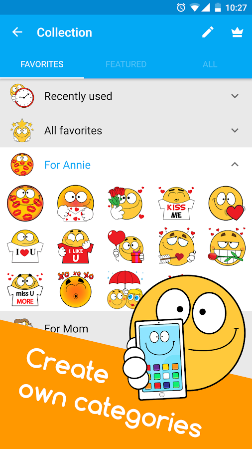 Ochat: emoticons for texting & Facebook stickers - Android ...