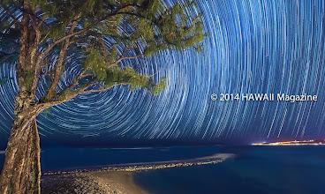 Photo: ABSTRACT CATEGORY, FINALIST. Camp Mokuleia star trails, Mokuleia, Oahu. Photo by Dwight Morita, Kailua, Oahu, Hawaii.