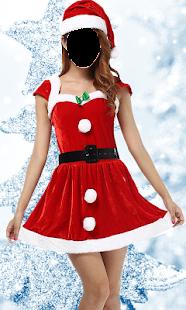 Christmas Lady Photo Suit 2017 - náhled