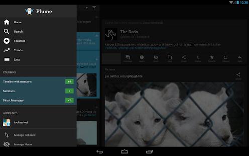 Plume for Twitter Screenshot
