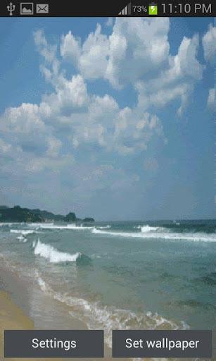 Nature Beach Waves LWP