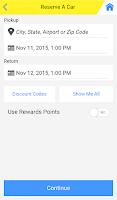 Screenshot of Hertz RentACar