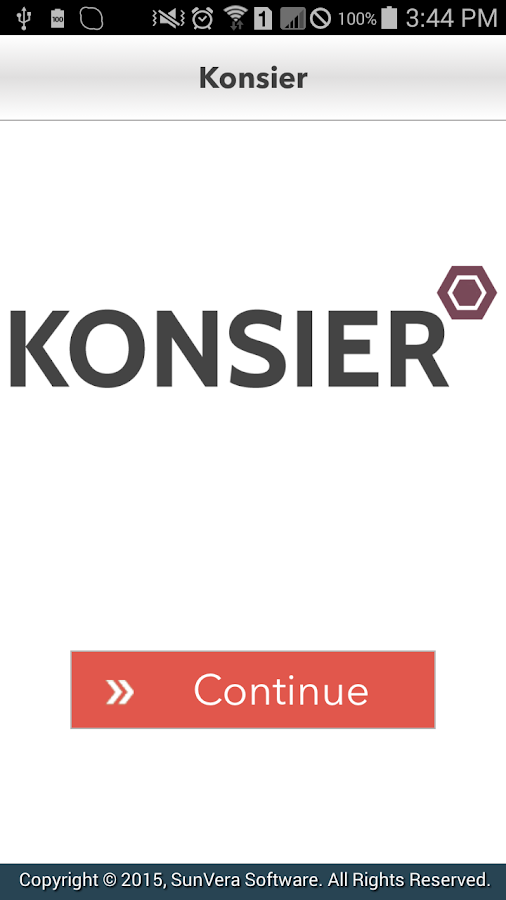 Konsier- screenshot