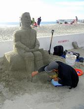 Photo: Sand sculpting on Pacific Beach
