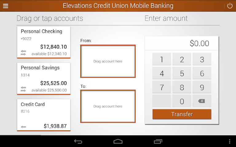 android Elevations Credit Union Mobile Screenshot 7