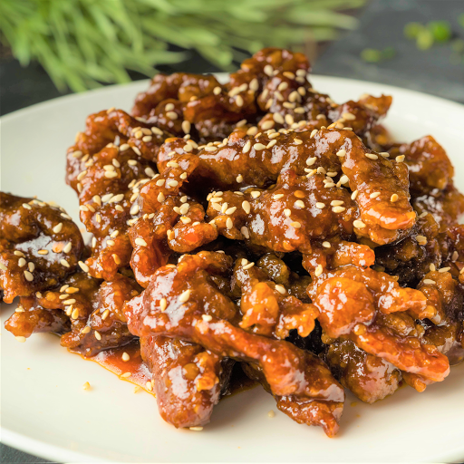 Spicy Crispy Beef with Ginger Sauce