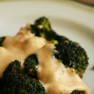 Broccoli with Zesty Cheese Sauce.