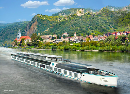 An artist's conception of the river yacht that Crystal Cruises is due to launch by 2018.