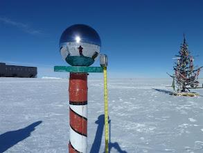 "Photo: Ceremonial Pole marker is 4 feet 8""."