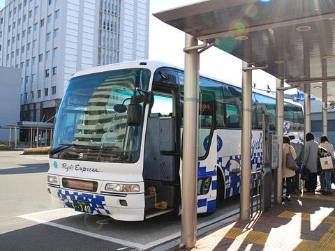 両備ホールディングス「龍馬エクスプレス」 1391 高知駅バスターミナル到着