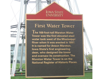 Read the Plaque - First Water Tower West of the Mississippi