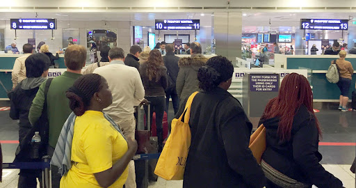 Passport Control in Istanbul, Turkey.