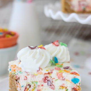 Fruity Pebble Ice Cream Cake