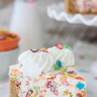 Fruity Pebble Ice Cream Cake.