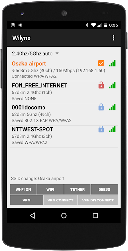 Hotspot connection - Wilynx