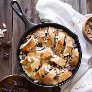Chocolate Almond Bread Pudding.