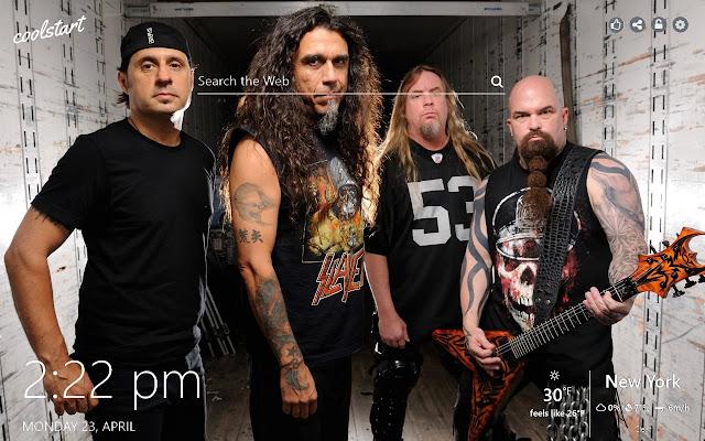 Slayer HD Wallpaper Heavy Metal New Tab Theme