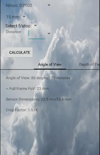 FoV and DoF Calculator