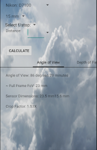 FoV and DoF Calculator – Field of View and Depth of Field