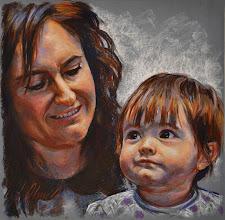 Photo: Saioa y Paloma, retratos en pastel