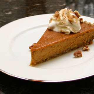 Pumpkin Pie With Spiced Oat Crust.